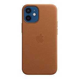 Чехол для iPhone 12 | 12 Pro Apple Leather Case with MagSafe - Saddle Brown