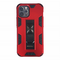 Чехол для iPhone 12/12 Pro MOCOLL Black Penguin Series Foldable Stand Holder Red