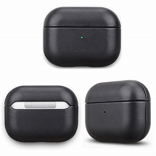 Чехол для AirPods Pro Bonola Leather Case Black