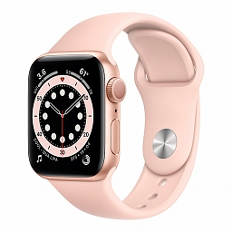 Apple Watch Series 6 40mm Gold Aluminium Case, Pink Sand Sport Band