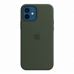 Чехол для iPhone 12 | 12 Pro Apple Silicone Case with MagSafe - Cyprus Green