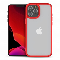 Чехол для iPhone 12/12 Pro MOCOLL Red Series TPU + Matte Glass Red