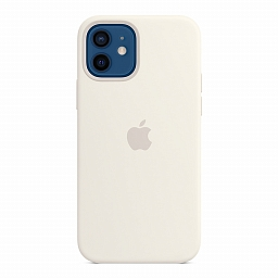Чехол для iPhone 12 | 12 Pro Apple Silicone Case with MagSafe - White