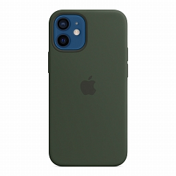 Чехол для iPhone 12 mini Apple Silicone Case with MagSafe - Cyprus Green