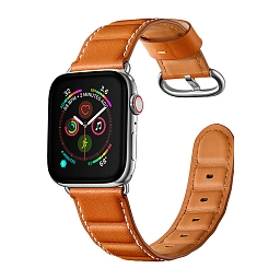 Ремешок для Apple Watch 42/44mm L&Y Leather Rectangle Brown