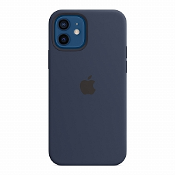 Чехол для iPhone 12 | 12 Pro Apple Silicone Case with MagSafe - Deep Navy