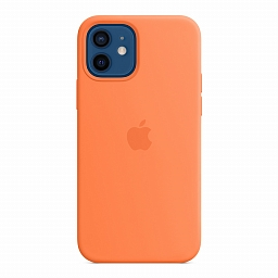 Чехол для iPhone 12 | 12 Pro Apple Silicone Case with MagSafe - Kumquat