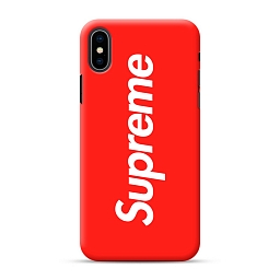 Чехол для iPhone XS Supreme Silicone Case Red