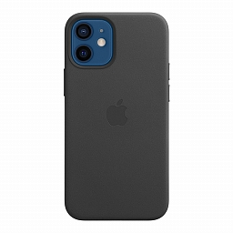 Чехол для iPhone 12 | 12 Pro Apple Leather Case with MagSafe - Black