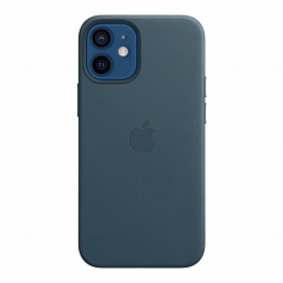 Чехол для iPhone 12 mini Apple Leather Case with MagSafe - Baltic Blue