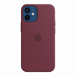 Чехол для iPhone 12 mini Apple Silicone Case with MagSafe - Plum