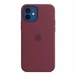 Чехол для iPhone 12 | 12 Pro Apple Silicone Case with MagSafe - Plum