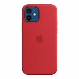 Чехол для iPhone 12 | 12 Pro Apple Silicone Case with MagSafe - (PRODUCT)RED