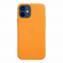 Чехол для iPhone 12 | 12 Pro Apple Leather Case with MagSafe - California Poppy
