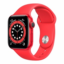 Apple Watch Series 6 44mm (PRODUCT) RED Aluminium Case, (PRODUCT) RED Sport Band