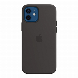 Чехол для iPhone 12 | 12 Pro Apple Silicone Case with MagSafe - Black